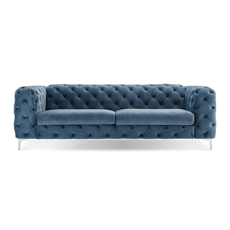Get Quotations Tufted Velvet Sofa French Blue