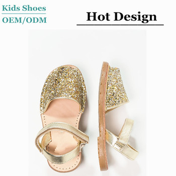9afab5634722 2016 summer girl golden glitter shoes fish toe leather kid sandal shoes