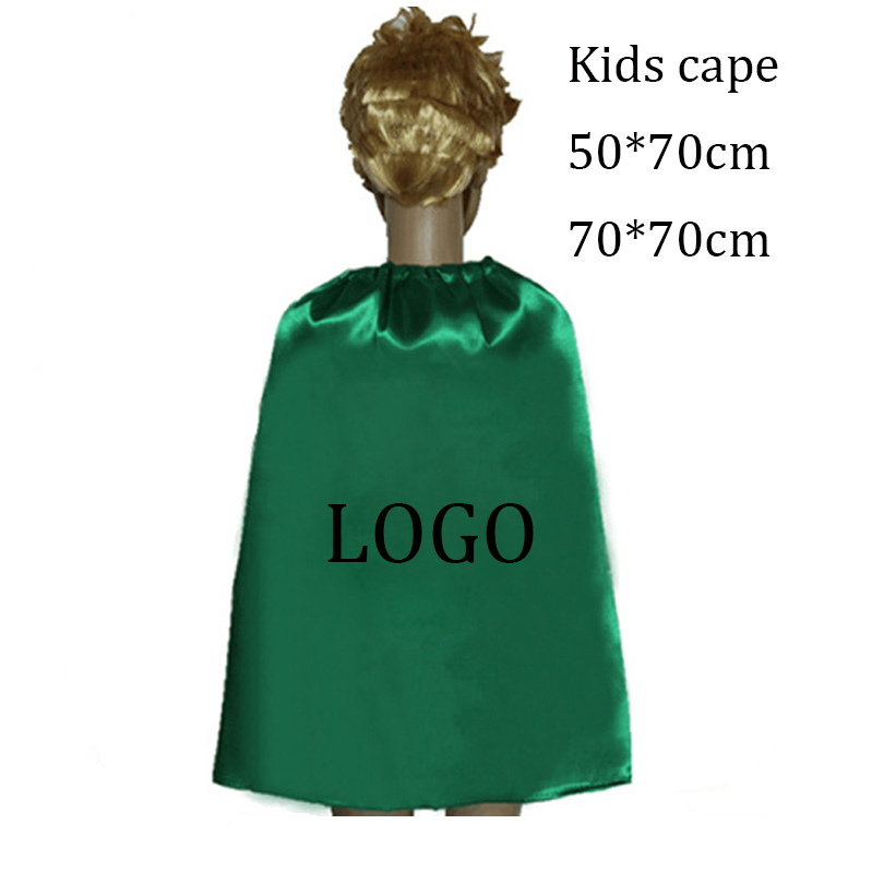Polyester satin cape custom cape and mask logo printed superhero cape фото