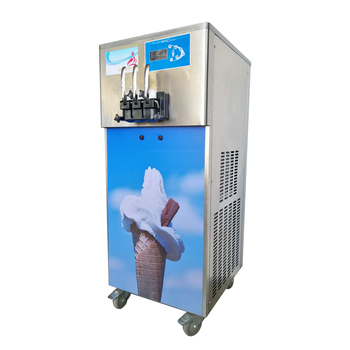 New Generation Big Capacity Gravity Feed Commercial 3 Flavor Frozen Yogurt Ice Cream Making Soft Serve Ice Cream Machine