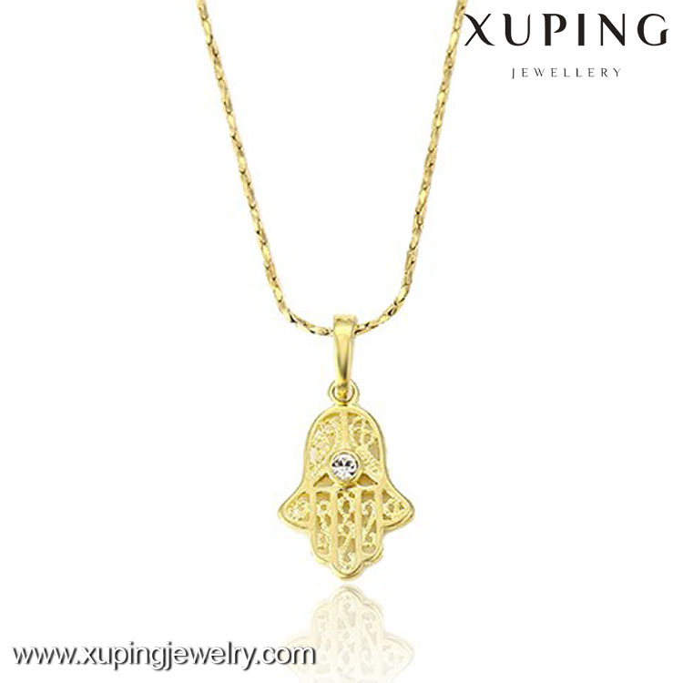 32003 Simples Designs Custom Jewelry 14K Gold Color Zircon Women Pendant