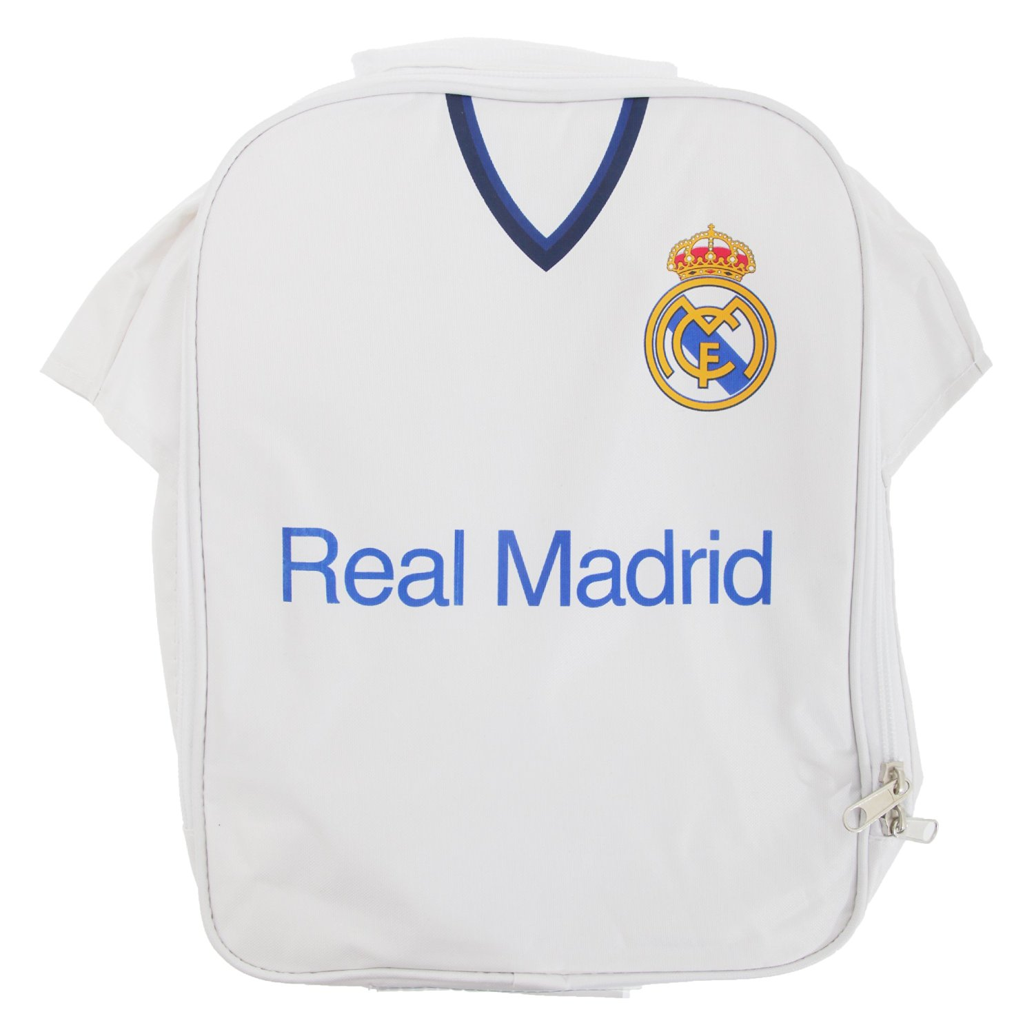 413ff6af1 Get Quotations · Real Madrid FC Childrens Boys Official Insulated Football Shirt  Lunch Bag Cooler (One Size