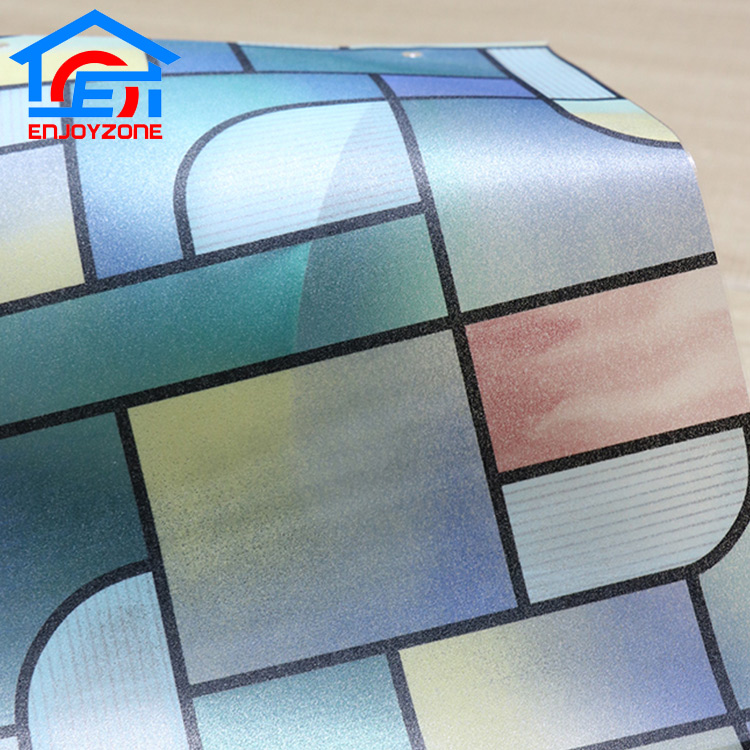 Decorative Self Adhesive Vinyl PVC Window Glass Film For Window