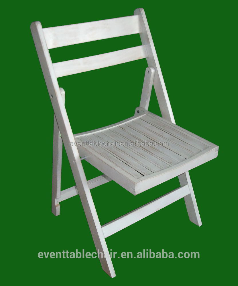 export solid wood banquet slat folding chair for party and wedding