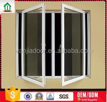 Pvc Casement Window With Unbreakable Window Glass Supply