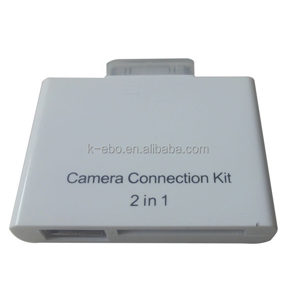 For iPad Camera Connection Kit 2 in 1