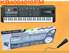 Hot selling kids 61 keys electric plastic piano keyboard, with radio and MP3 KB4004010FM
