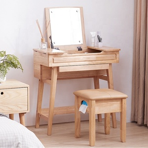 Simple Nordic style furniture solid wood modern dresser small house hlod make-up table creative bedroom dresser