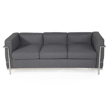 Standard cashmere fabric light grey couch living roon sofa couch