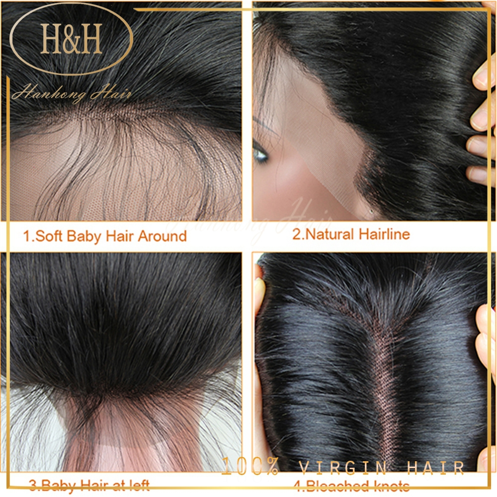 High quality brazilian human hair full lace wig with baby hair 150% density full lace wig