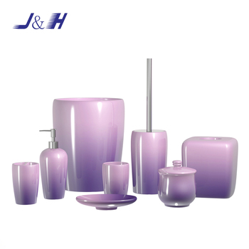 Colour Painted New Designed Ombre Purple Resin Bathroom Accessories Set Buy Bathroom Products Resin Bathroom Accessories Purple Resin Bathroom Accessories Set Product On Alibaba Com