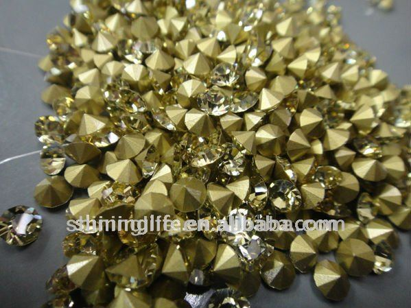 best sell hot fix jonquil crystal chaton rhinestone settings factory directly sale