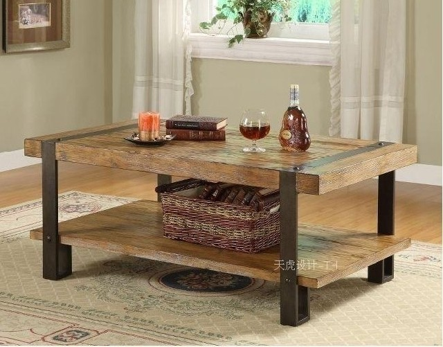 Buy american country wrought iron coffee - How high is a coffee table ...