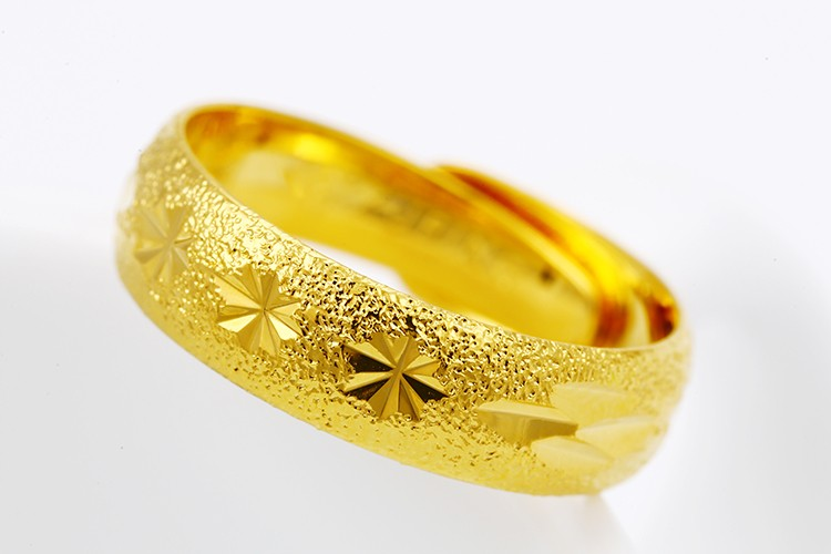 Xuping delicate gold ring designs dubai 24k gold plated ring copper alloy adjustable finger ring
