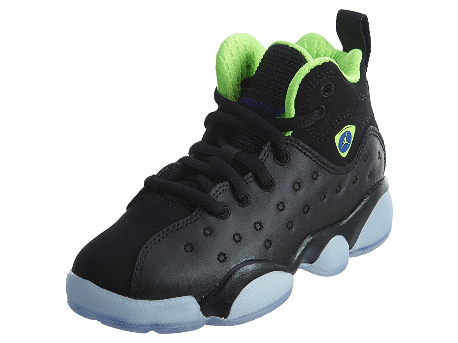 9c78aa90dbb8f2 Jordan Jumpman Team II Premium Black Electric Green-Concord (Little Kid)