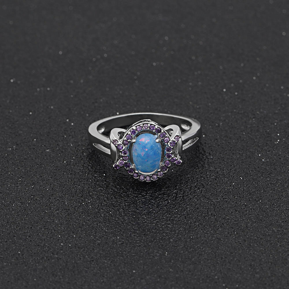 rare pave natural jewelry blue stone sapphire gemstone earth oval diamonds ring wedding cut engagement products with halo rings diamond