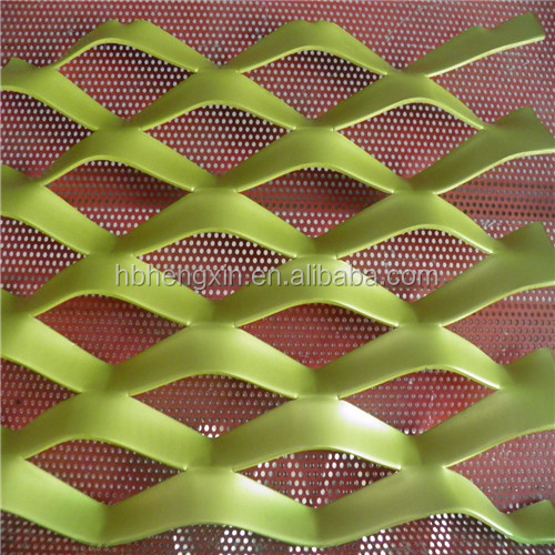 Expanded metal wired security screen material mesh/anping hengxin expanded plate mesh