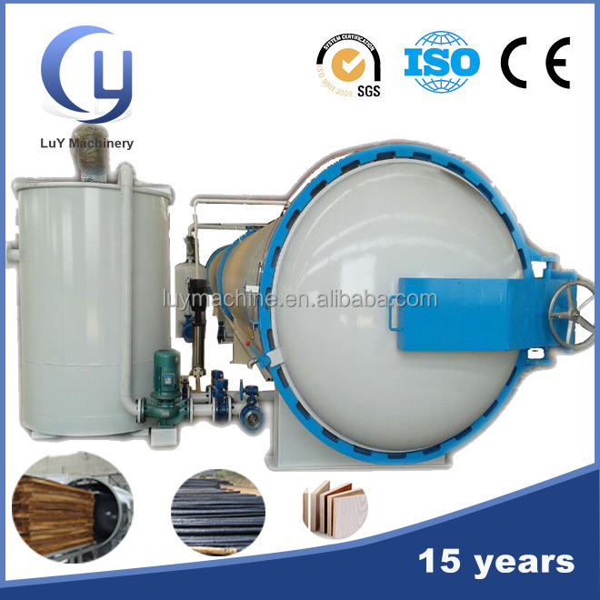 CCA ACQ creosote wood timber vacuum impregnation tank