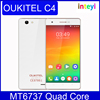 Oukitel C4 MTK6737 Quad Core Smartphone 5.0 Inch HD Screen Android 6.0 Mobile Phone 1G RAM 8G ROM 2000mAh Unlocked Cell Phones