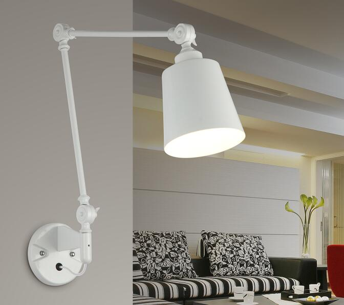 2019 Hot sale E27 bulb light fixture swing arm wall sconce lamp