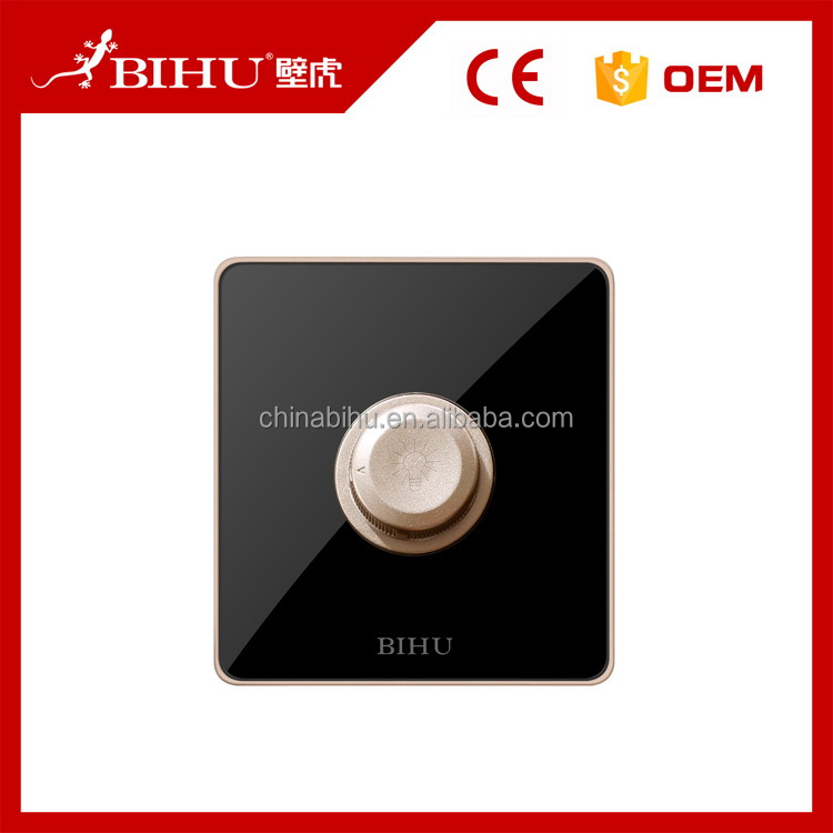 China wholesale products high quality gold frame touch uk standard inline lights dimmer switch