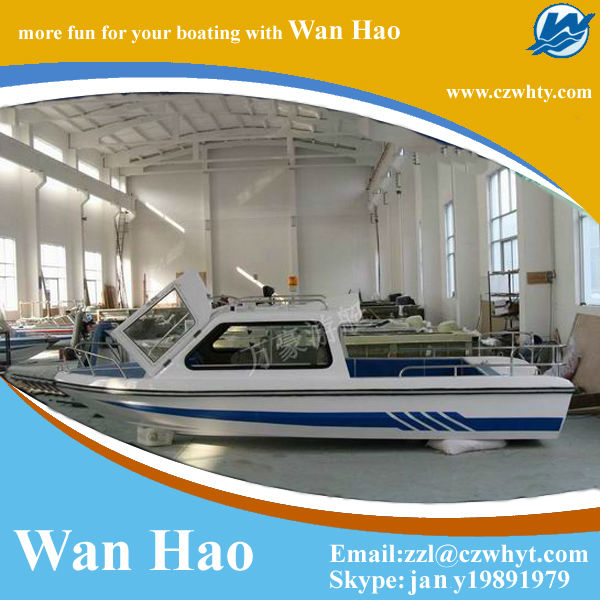 Favorites Compare High quality blue and white new beautiful fishing vessel WH580 with half roof yacht for sale,2013 new arri