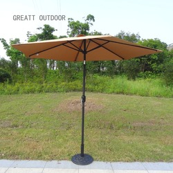 Outdoor Furniture General Use Steel Pole Material Patio Umbrella Hanging Parasol