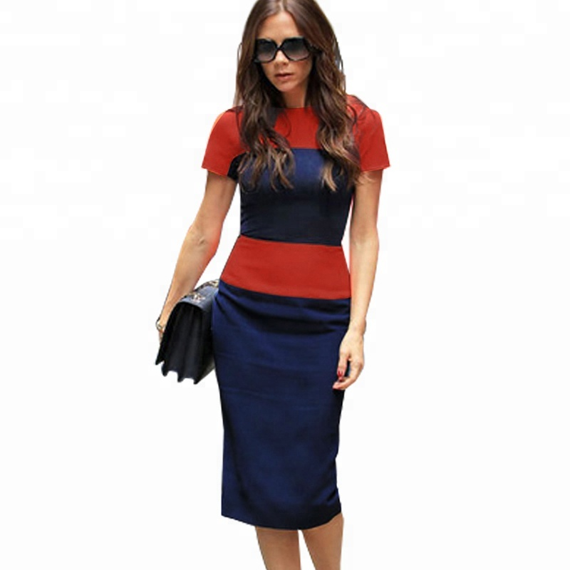 Casual Women Clothing Dress Elegant Summer Striped Office Pencil Dress фото