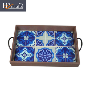 Wholesale new style wood hotel dessert tray serving