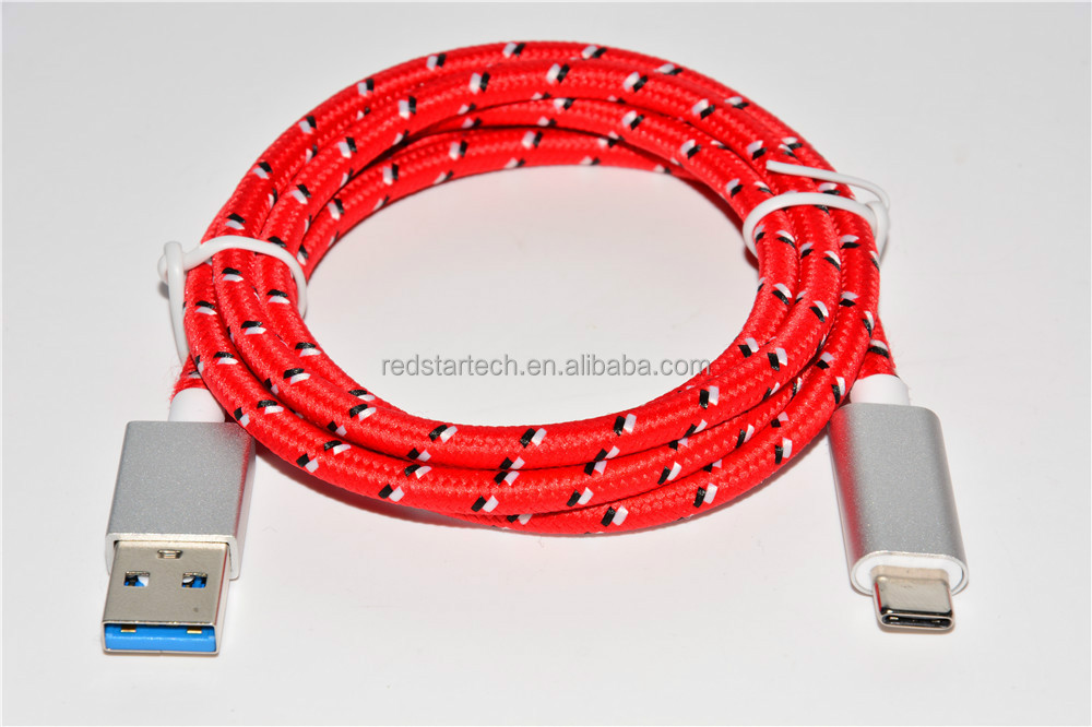3.0 Type A Braided USB C Cable Angled