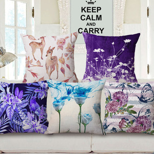 Hot Sell Flowers Birds Decorative Custom Design Cushion Covers Bulk