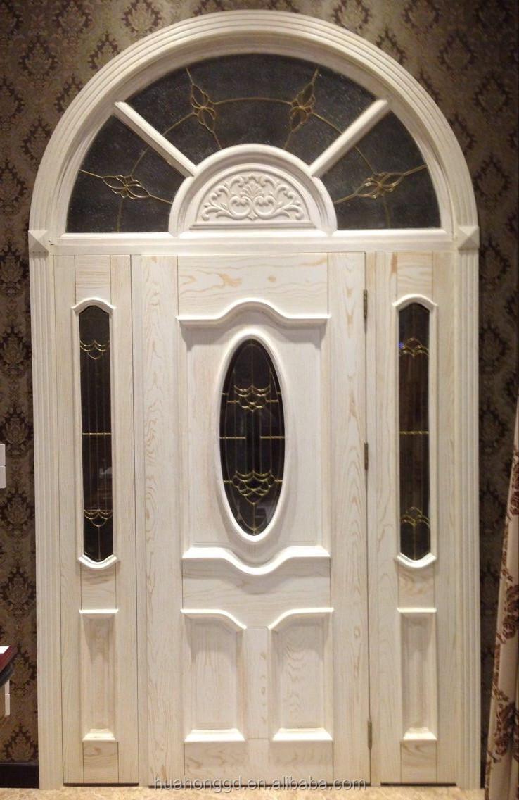 Foshan junfu meilleur blanc porte, porte d'entrée en bois massif ...