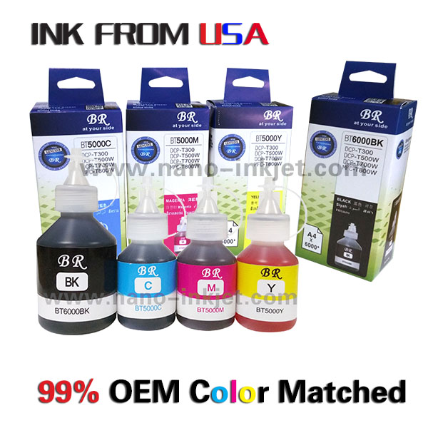 Refill inkt voor brother DCP-T300/T500W/700 w; MFC-T800