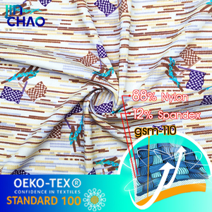 gsm170 printed fabric for spandex lycra full body suit for women custom fabric lycra nylon suplex fabric