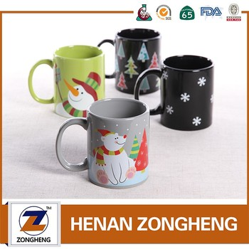 Wholesale Customized Xmas Ceramic Mug Decal Printing for gift