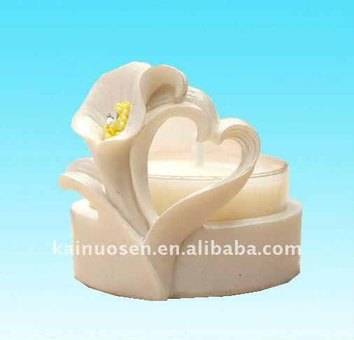 Heart Shaped Calla Lily Candle Holder