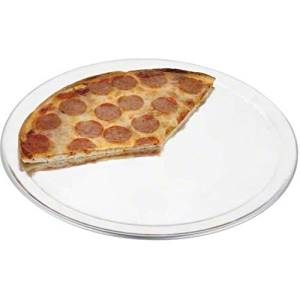 "Browne (5730038) 18"" Thermalloy Wide Rim Aluminum Pizza Pan by Browne Foodservice"