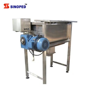 Sus304 Stainless Steel Horizontal Ribbon Blender Powder Mixer 500l With Screw Conveyor