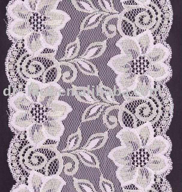 knit raschel nylon lace