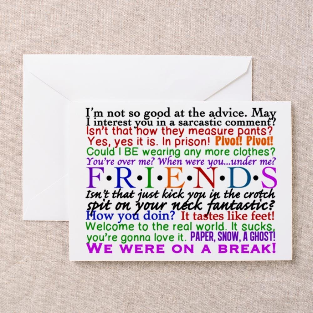 5c78b28b4af25 Buy CafePress Friends TV Quotes Greeting Card - 7.8x11 Multi-color ...