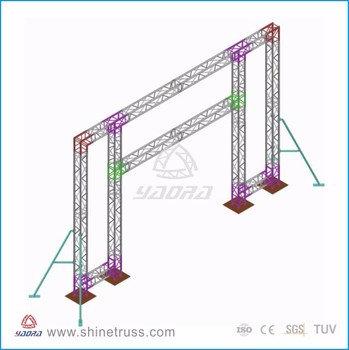 New Design Aluminum Square Truss Easy Install Stage Truss Aluminum Pipe Truss on Sale