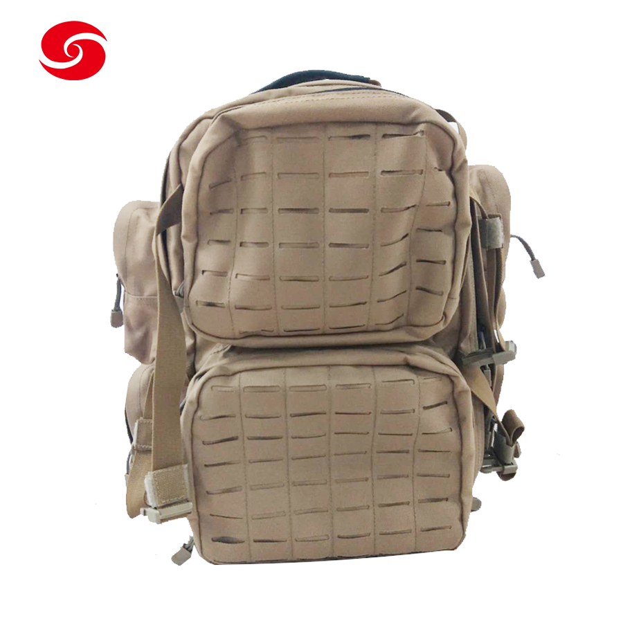 Water-Reppellant 60-70L Khaki 1000D Nylon Laser Molle Cut Military Tactical Army Backpack