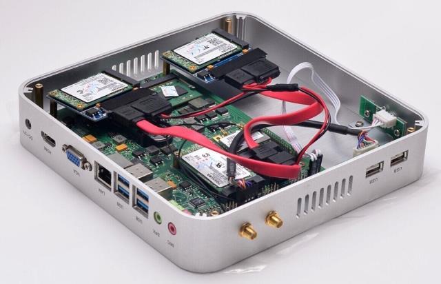 Mini Desktop Computer Vga Thin Client Micro Pc Wifi Fanless Mini ...