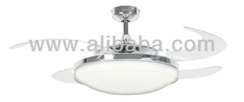 fanaway evo2 endure chrome ceiling fan with clear retractable