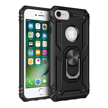 Hybrid Armor Shockproof Case With Metal Ring kickstand Magnetic Car Mount Mobile Phone Cover For iphone 6/6S