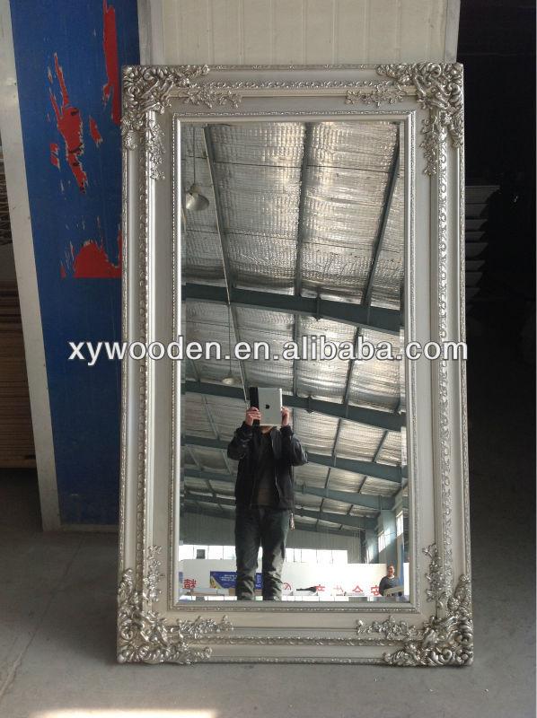 Shabby vintage style biseaute miroir argent couleur cadre for Miroir indonesia