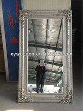 Shabby Vintage Style Bevel Edge Mirror Silver Coloured Frame