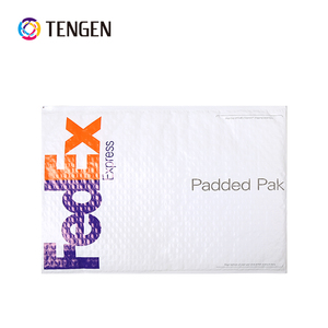 custom white poly bubble envelope with logo printing