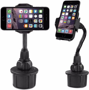 360 degree Adjustable handy cup phone mount holder drink mobile phone car mount in cup for iphone 7 plus tablet pc