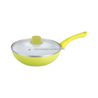 aluminum mini deep egg fry pan with high temperatureed glass lid